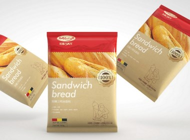 烘焙品牌进口冷冻面包包装设计