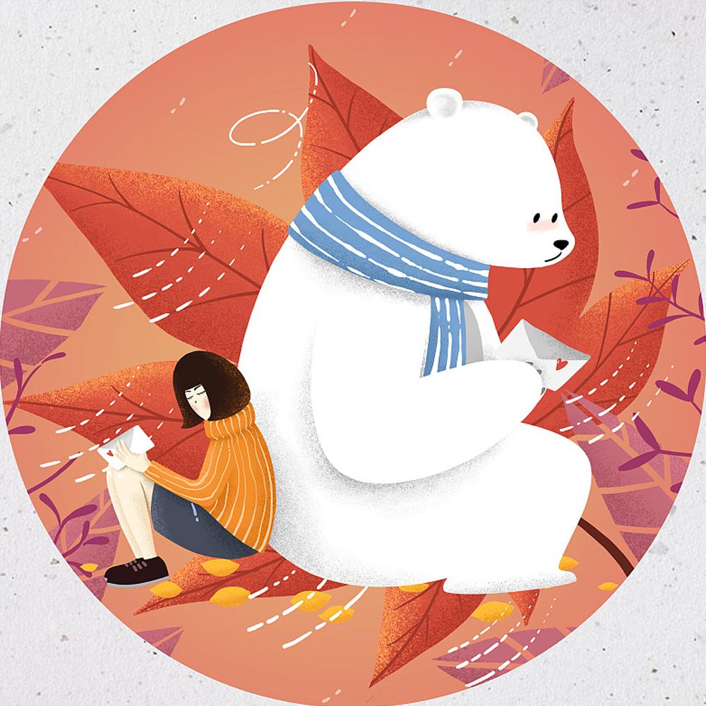 熊不凶暖手宝插画设计