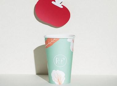 时尚手绘-剪纸风-餐饮咖啡厅品牌vi设计作品