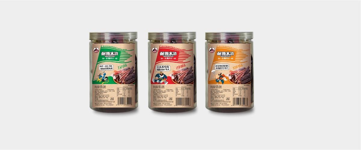 外星部落案例   贾姥爷水浒系列零食