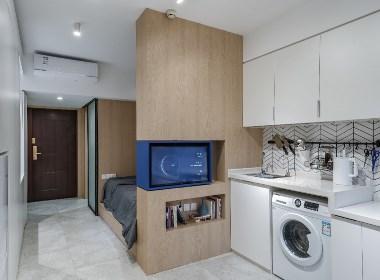 「两面」两个月让23㎡的公寓一应俱全,还有360°的旋转电视