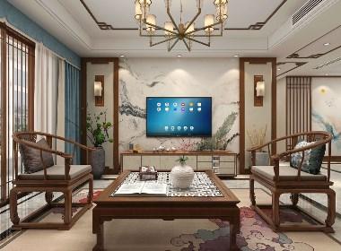 新中式家装客餐厅