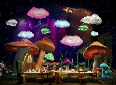 -梦想空间儿童游乐园娱乐中心效果图表现项目