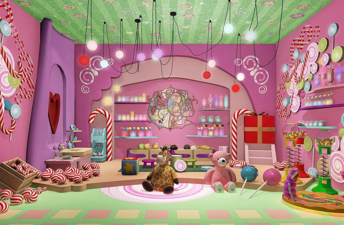 梦想空间儿童游乐园娱乐中心效果图表现项目图片