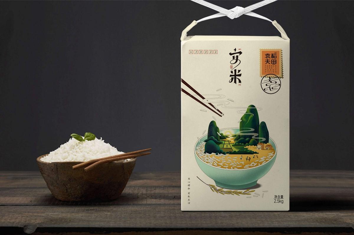 大米包裝設計——安米之鄉愁系列