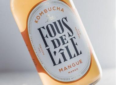 Fous de L'île发酵茶饮料包装设计