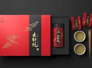 大红袍包装设计 大红袍礼盒设计 茶叶包装设计【广州领秀原创设计】