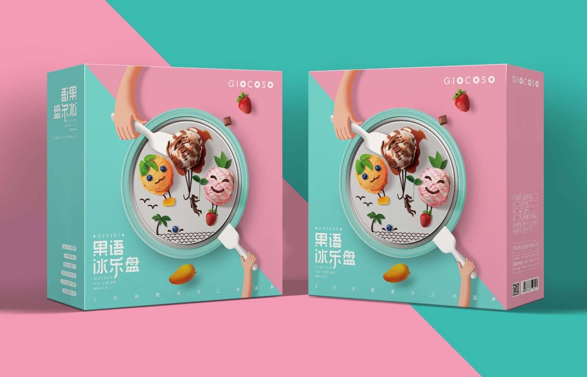 果語冰樂盤包裝設計
