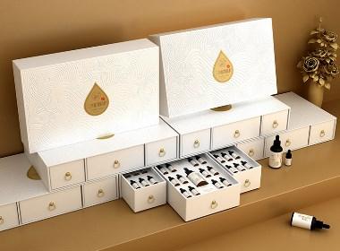 植物精华液包装设计 精油产品包装设计  精华液外盒包装设计