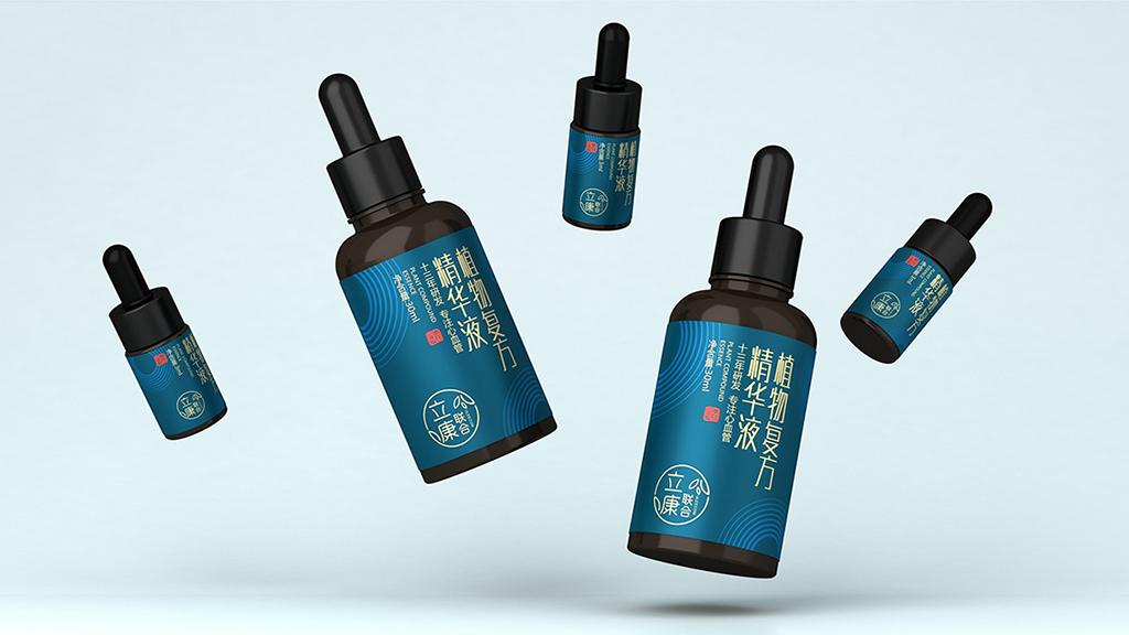 植物精華液包裝設計 精油產品包裝設計  精華液外盒包裝設計