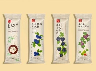健康直饮品手绘包装系列