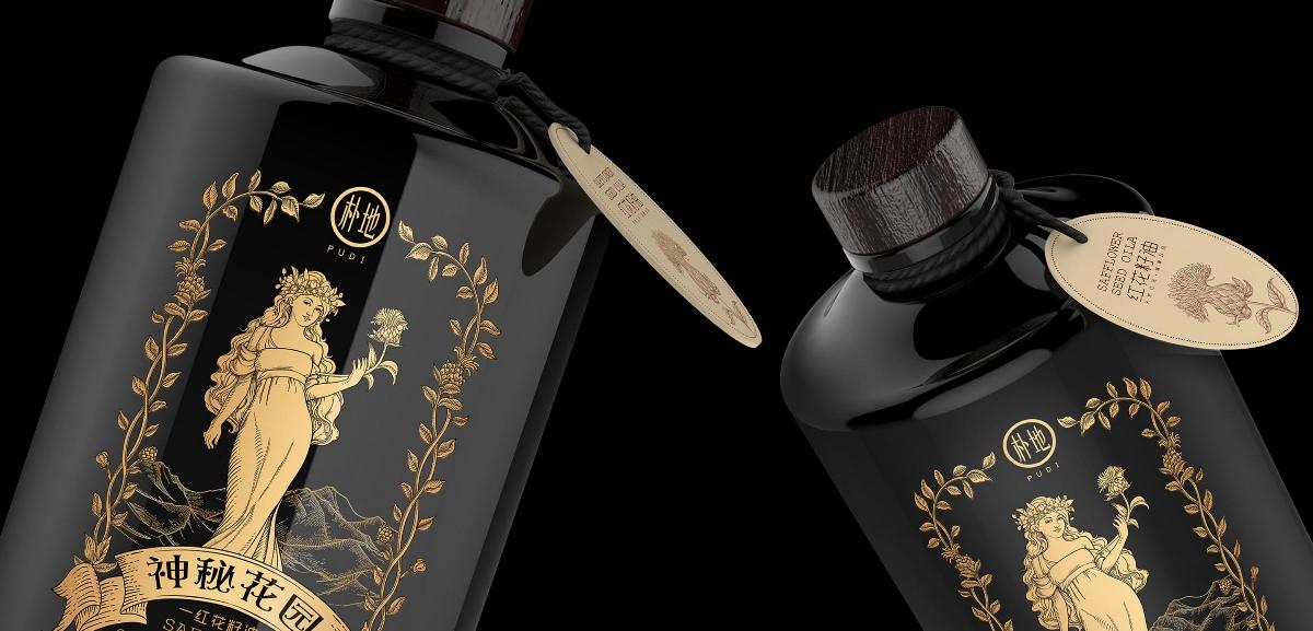 红花籽油包装设计-农产品包装设计【圣智扬包装设计案例】