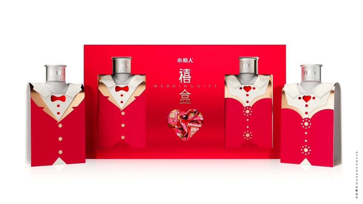 高鹏设计——婚庆礼品限量版酒包装设计