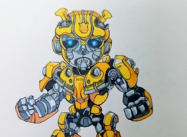 大黄蜂  插画
