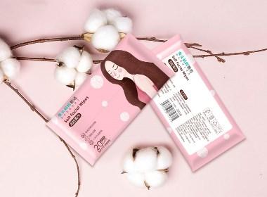 洗脸柔巾 湿纸巾 包装设计