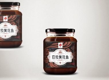 豆鼓黄花鱼标签设计