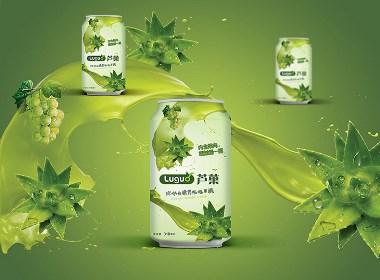 芦荟饮料易拉罐包装设计