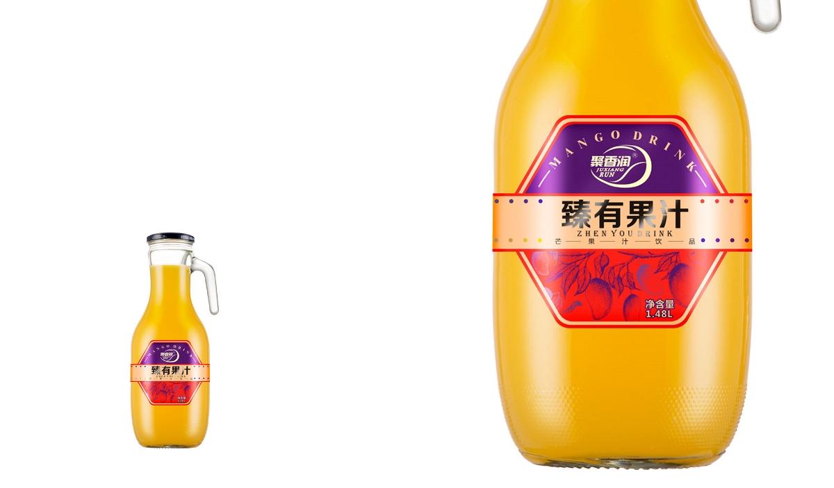 聚香润饮品品牌设计