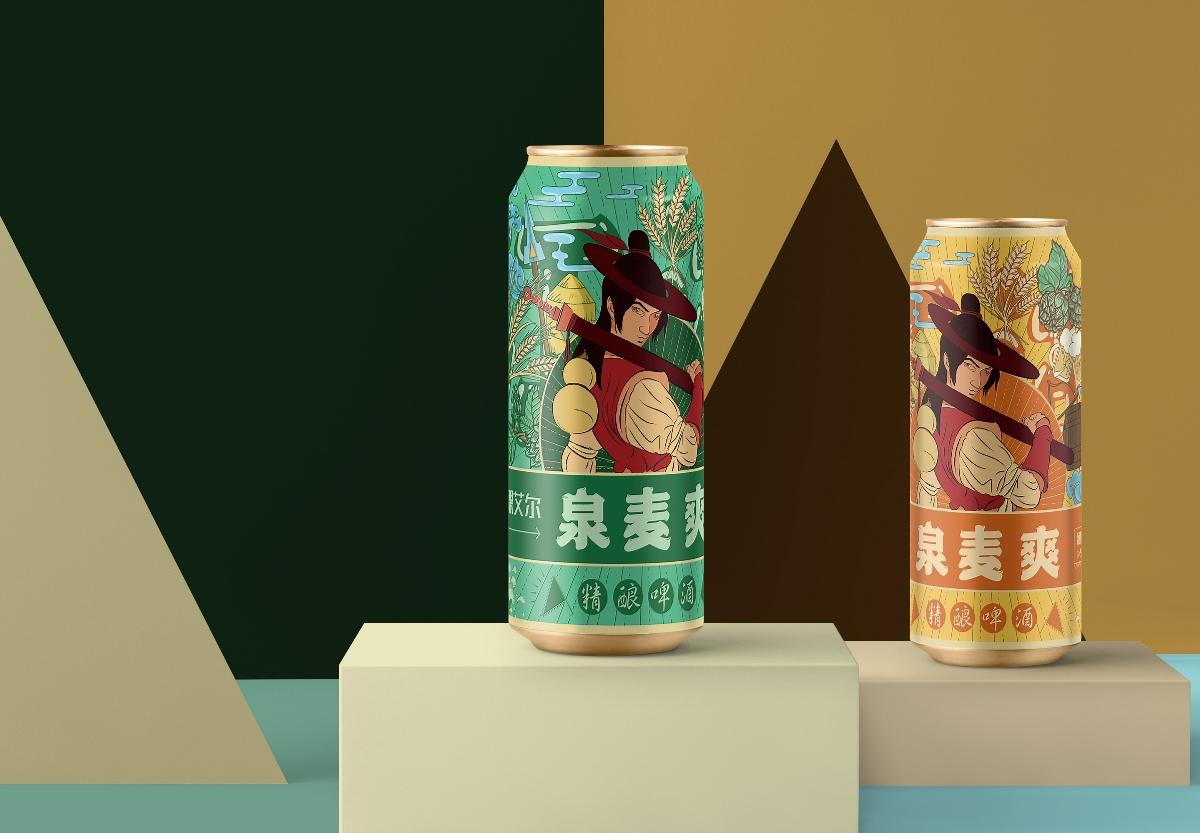 """""""笑傲浆壶""""啤酒包装设计"""