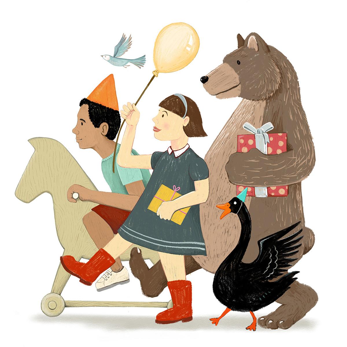 欢乐儿童绘本插画设计