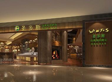 美式休闲风格|深圳圣多斯南美烤肉西餐厅设计(KK ONE店)