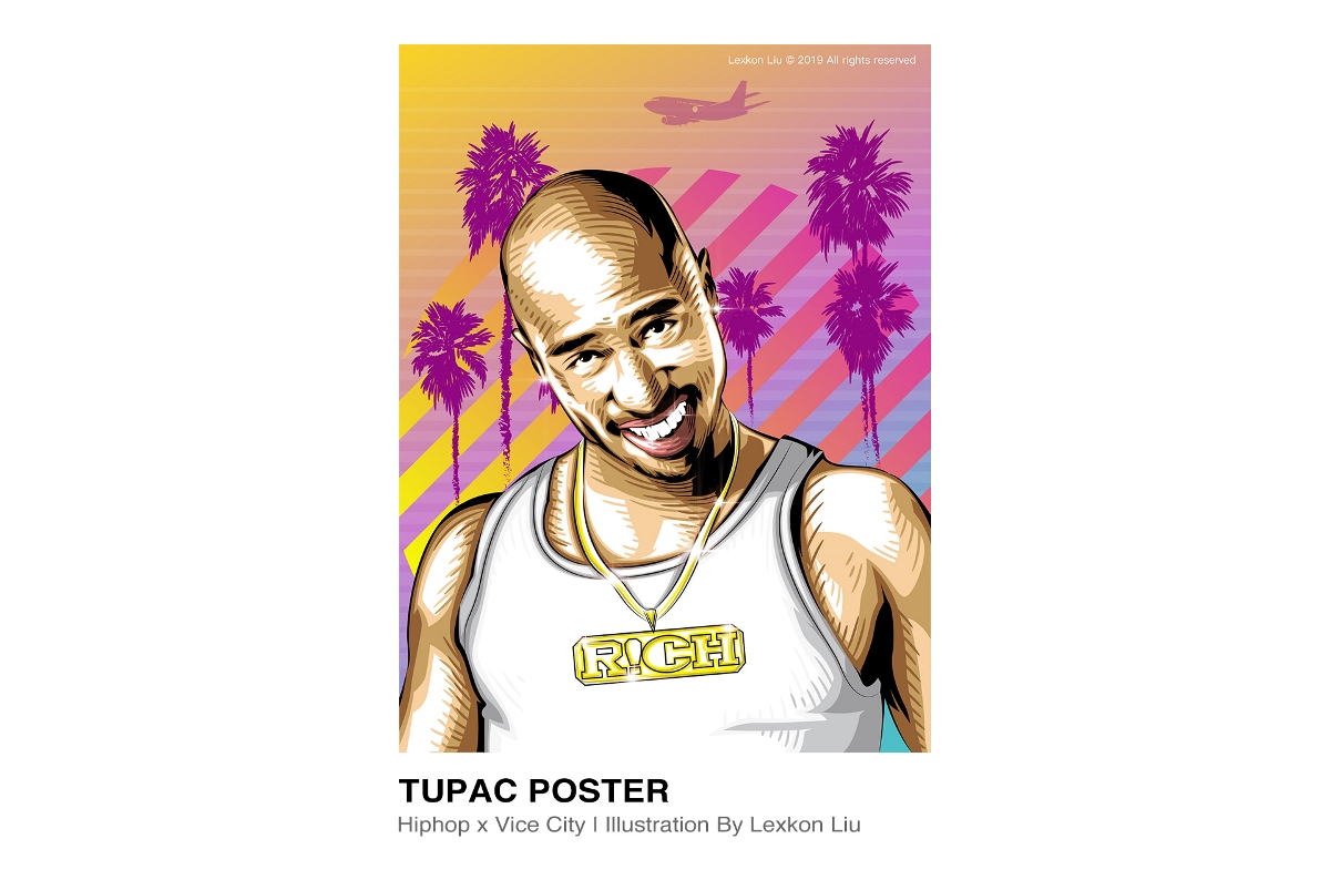 《Hiphop x Vice City》插画艺术项目