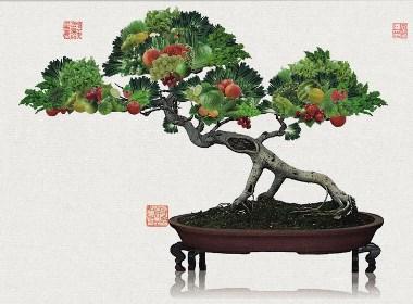 农产品水果招商海报创意-太歌