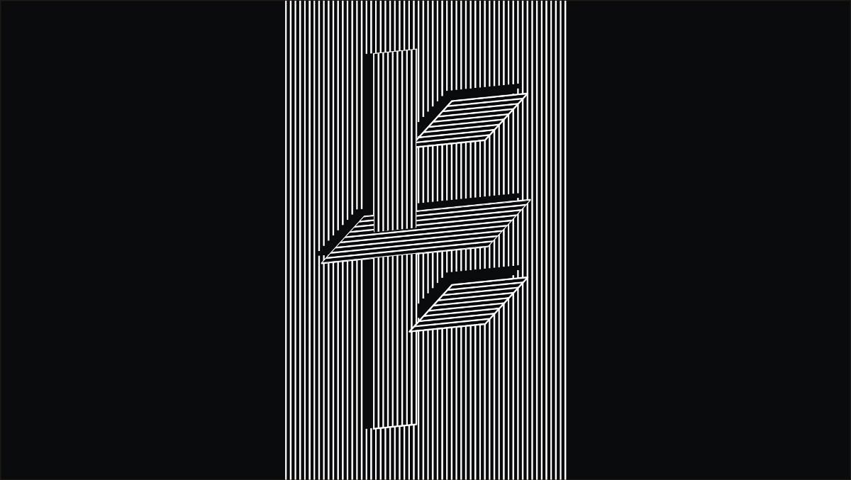 几何构成字体尝试(二)