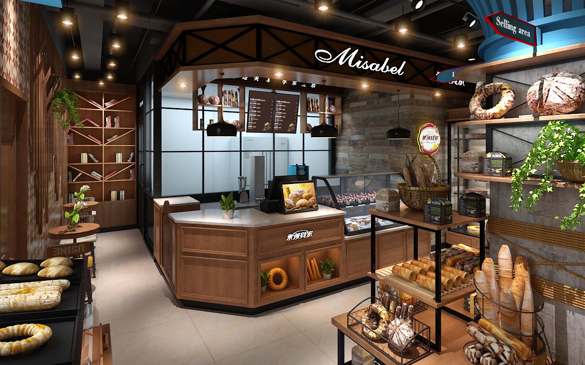 成都帝森装饰丨成都甜品店设计丨成都店铺设计-米莎贝尔