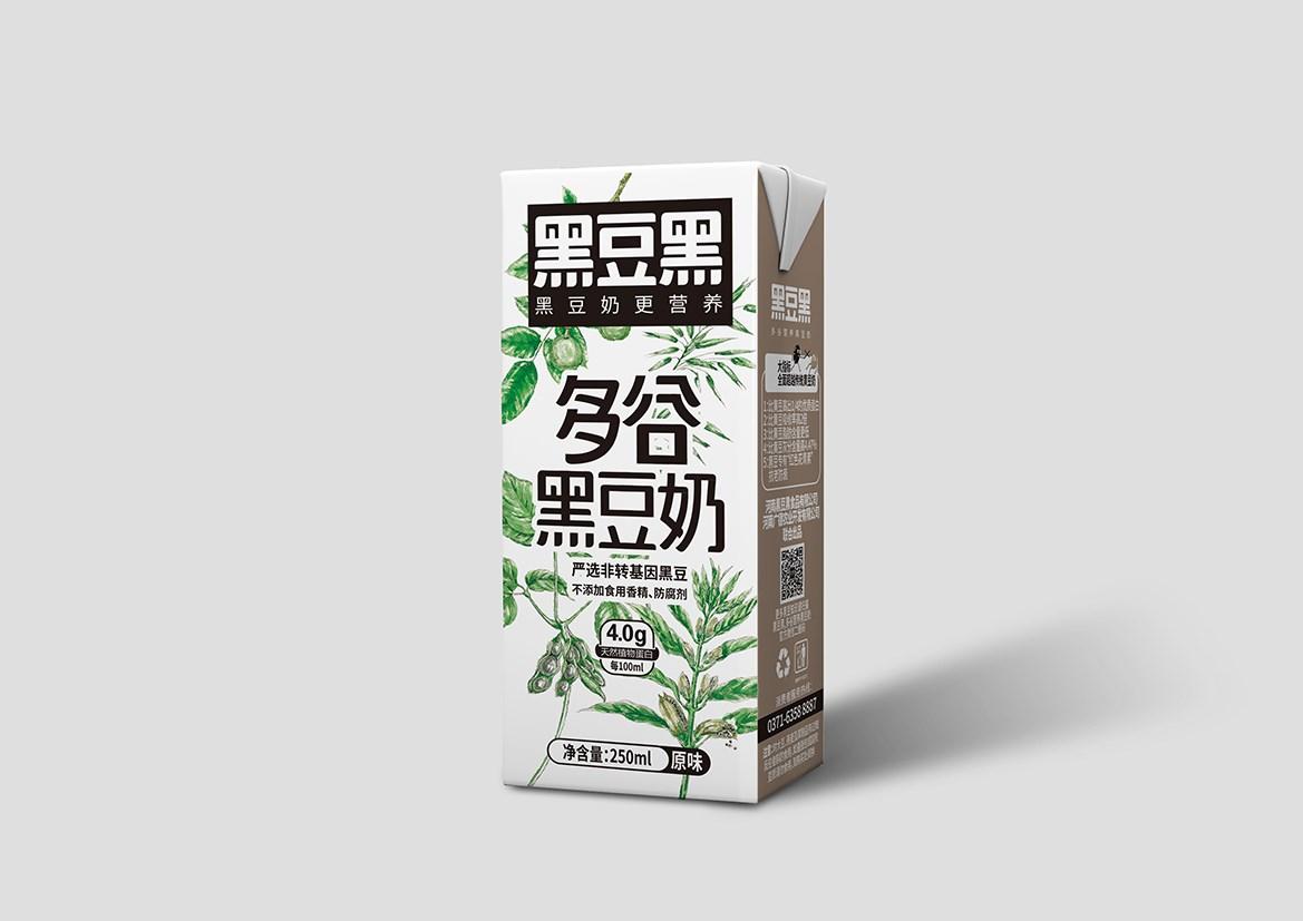 黑豆黑多谷营养黑豆奶系列包装设计