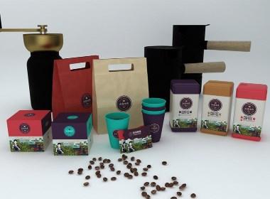 海南省农产品公用品牌咖啡包装设计