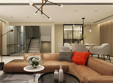 重庆约克郡联排别墅——现代风格家装