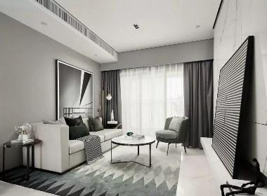 极简设计,阳光城·丽景公馆复式样板房--欧模设计圈