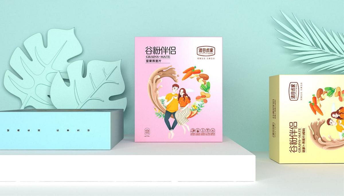 「沫谷米家代餐粉」 系列包装设计