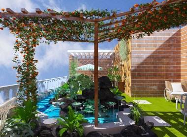 露台花园景观设计案例效果图