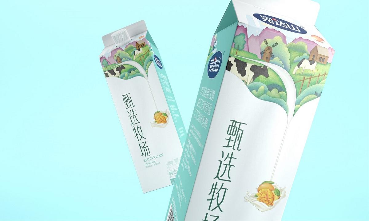 完达山甄选牧场——徐桂亮品牌设计