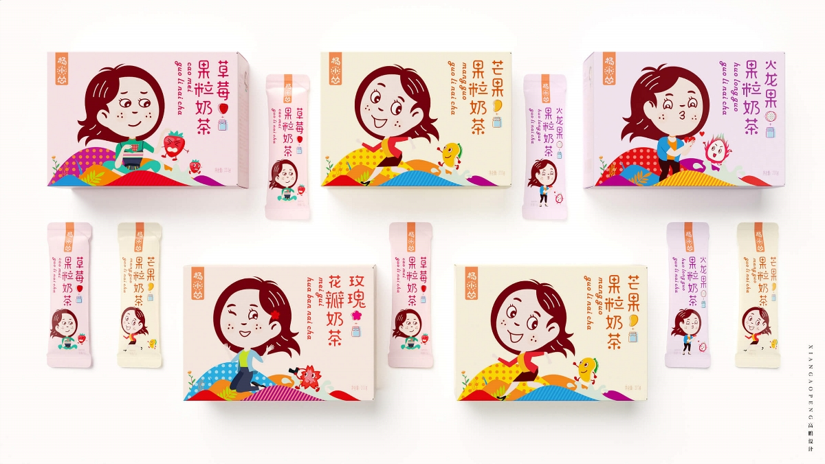 高鹏设计——水果奶茶固体饮料包装设计
