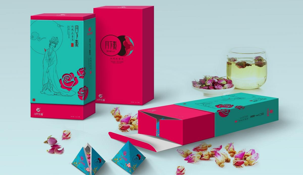 九朵玫瑰花茶包装创意设计