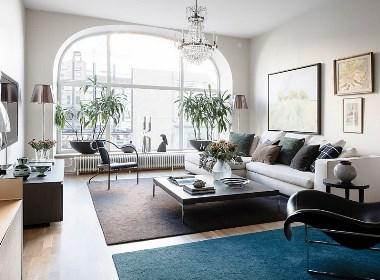 拱形窗的优雅弧线!瑞典73㎡日光北欧风公寓--欧模设计圈