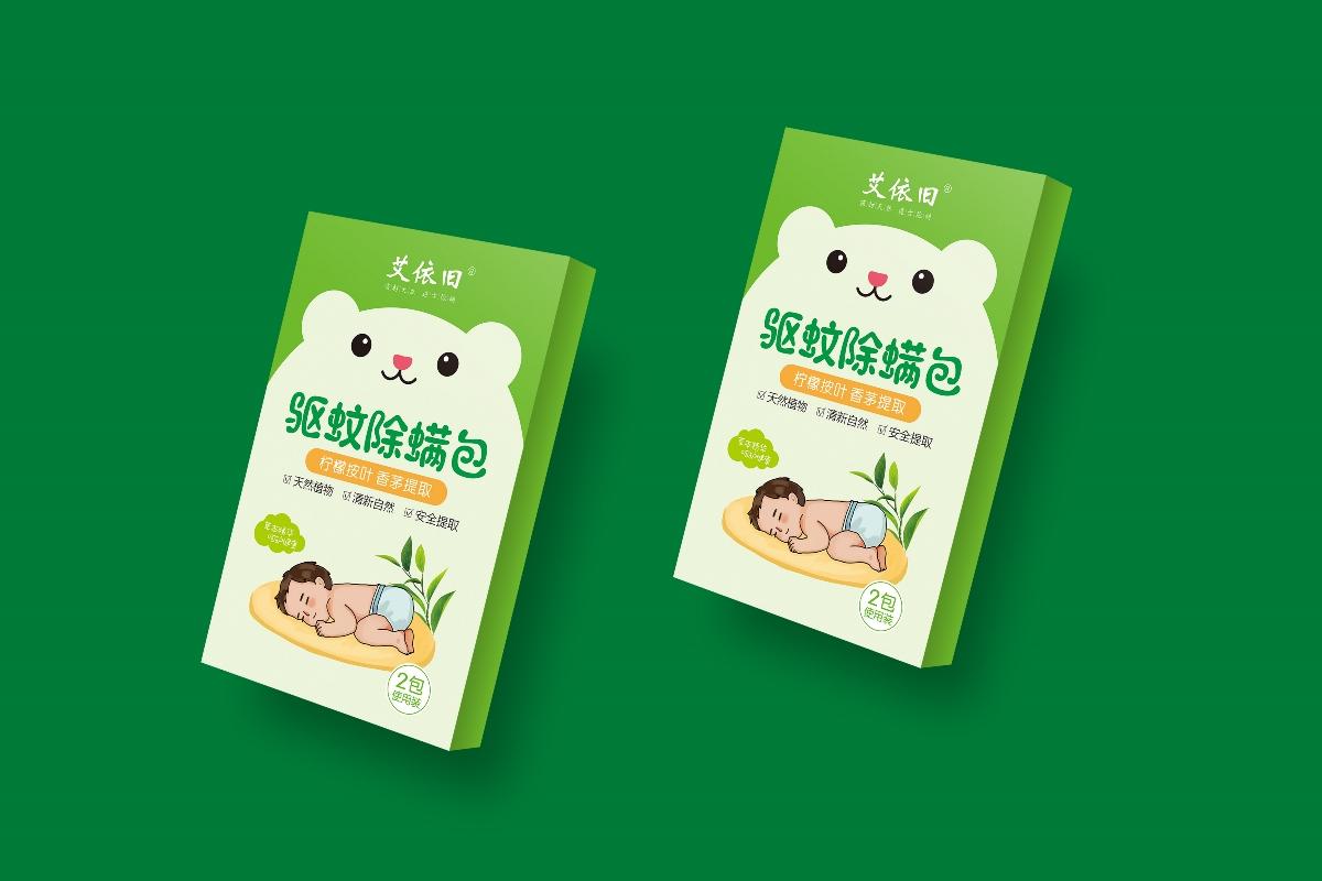 儿童驱蚊除螨包装设计
