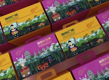 海南芒果&海南火龙果包装设计