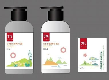 洗护系列插画&包装