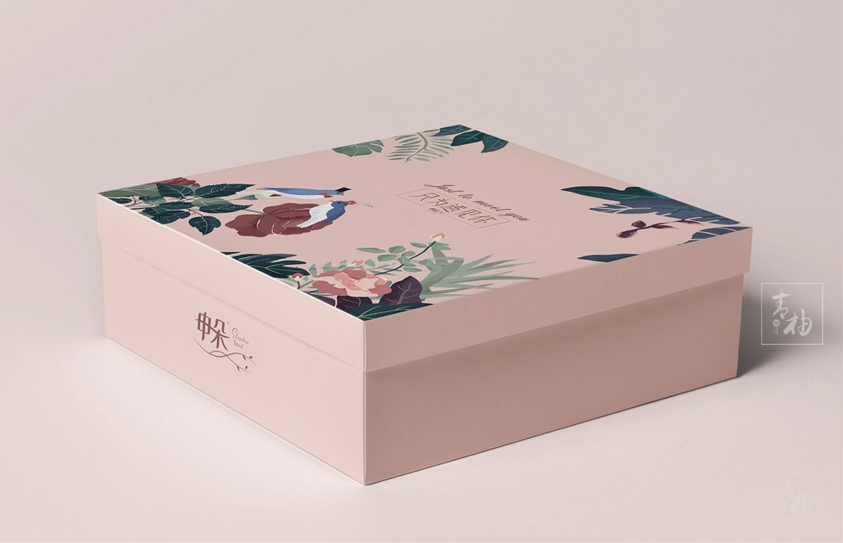 毛巾品牌节日款礼盒包装设计