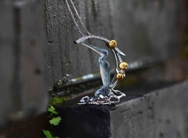 鹭鸶胸针|吊坠两用