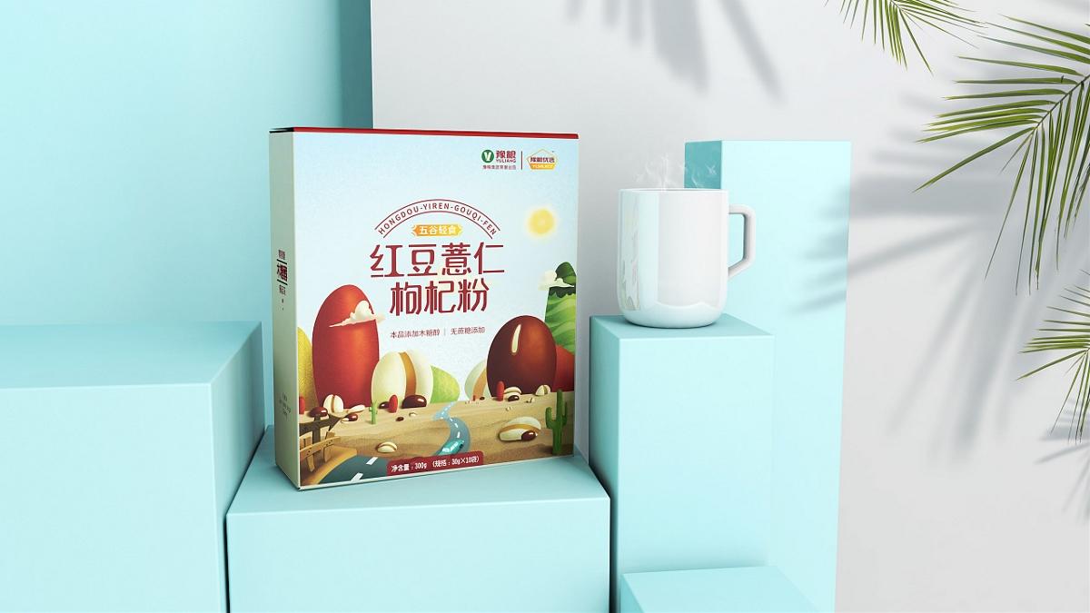 「豫粮优选」 代餐粉包装设计