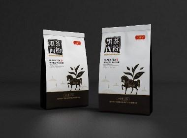 红福字黑茶面粉包装设计