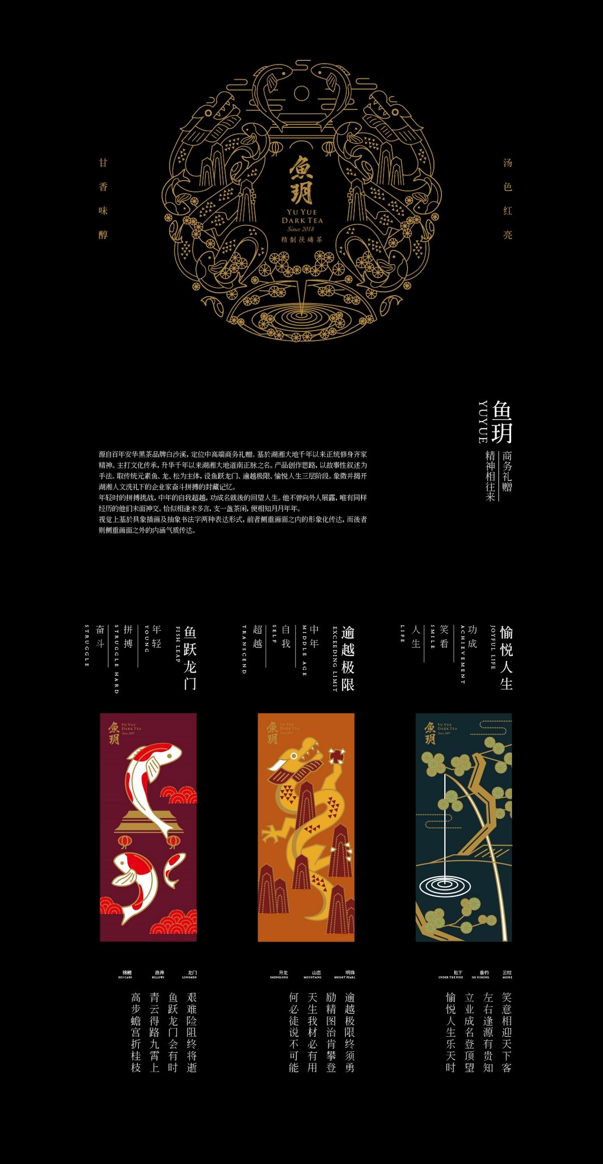 白沙溪|鱼玥商务礼赠黑茶包装设计|若非设计 www.rufydesign.com