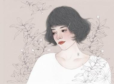 美人儿——创意插画设计
