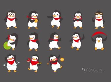 小企鹅插画系列包装