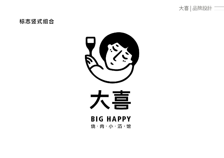 重庆 大喜烧肉小酒馆 餐饮 标志设计 品牌设计 logo